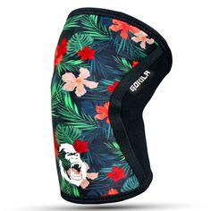 5MM Knee Sleeves Flower design | Gorila Fitness