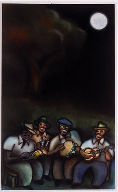 Cuban Musicians | From a unique collection of figurative drawings and watercolors at https://www.1stdibs.com/art/drawings-watercolor-paintings/figurative-drawings-watercolors/