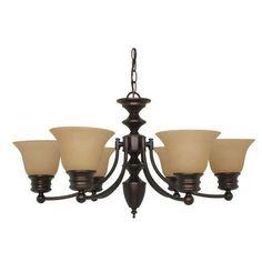Empire Mahogany Bronze Six-Light Chandelier Bellacor $189