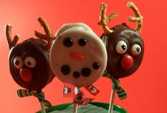 Snowman and Reindeer Pops