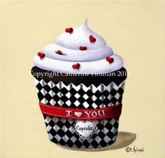 Cupcake Print I Love You Valentine