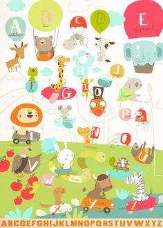 Abécédaire animaux : Animalphabet, Sigrid Martinez - L'Affiche Moderne