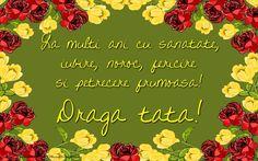 La multi ani cu sanatate, iubire, noroc, fericire si petrecere frumoasa! draga tata Noroc, Birthdays, Anniversaries, Birthday, Birth Day