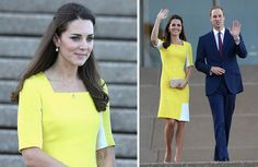 Catherine, Duchess of Cambridge tour Australia/New Zealand Day-10 on April 16, 2014 in Sydney, Australia. A sunny Roksanda Illincic was the first outfit for Kate on the Australia leg of the tour