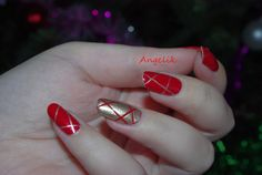 Nail art for Christmas 1 by ~Angelik23 on deviantART