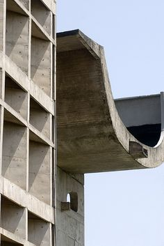 Palace of Assembly Building Urban Architecture, Space Architecture, Architecture Details, Le Corbusier Chandigarh, Pierre Jeanneret, Brutalist, Construction, India, Concrete