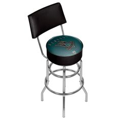 Seattle Bombers Padded Swivel Bar Stool with Back, Multicolor