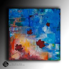 Abstract Art Acrylic Painting Modern Contemporary Original Painting canvas painting textured painting large wall Art square by Anna Bulka