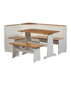 Look at this #zulilyfind! White Ardmore Five-Piece Dining Nook Set #zulilyfinds