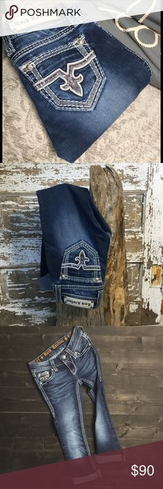 💙HP 8-26-16💙 Rock Revival capris Rock revival Jacklyn boot jeans cut into capris. They are not hemmed, so you would have to do that, I just always rolled them. 💜 Rock Revival Jeans Ankle & Cropped