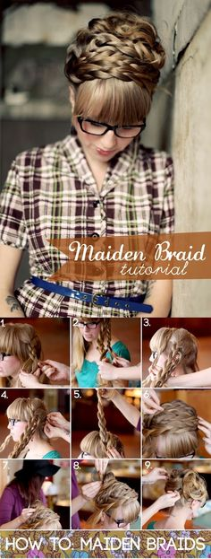how to get the maiden braids hair style-I wear this under my headscarf. It stays cute all day and it isn't to bumpy when I lean against the headrest in my car.