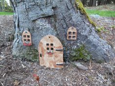 Fairy Garden Window  wood color by VermontPotteryArts on Etsy, $6.00