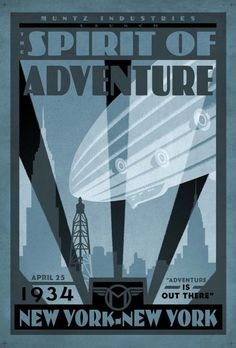 "Have you got ""The Spirit of Adventure""? Posters used in the Disney movie, 'UP'"