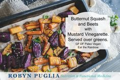 Butternut and Beets served over greens