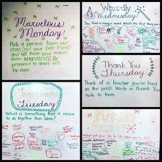 "35 Likes, 2 Comments - @daniellemichon on Instagram: ""This weeks #miss5thswhiteboard  I love these ❤️"""
