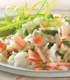 Ensalada de arroz y surimi