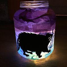 Pickle jar lantern Jar Lanterns, Pickle Jars, Reuse, Home Decor, Decoration Home, Room Decor, Home Interior Design, Home Decoration, Interior Design