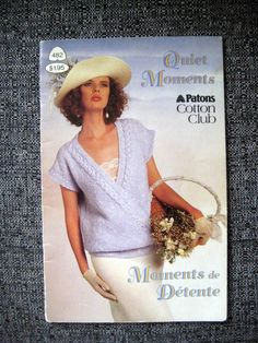 Patons Quiet Moments,Vintage Knitting Patterns Quiet Moments Patons Cardigan, Summer Spring tops at Designs By Willowcreek on Etsy Instructions are written in English. Vintage paper original, NOT a pdf. Quiet Moments, Spring Tops, Vintage Knitting, Vintage Paper, Cardigans For Women, Vintage Patterns, Knitting Patterns, Knit Crochet, Etsy Shop
