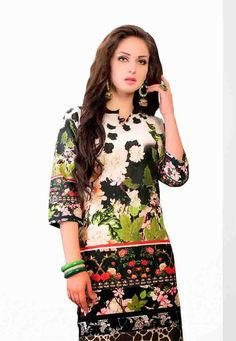 Multi #color Cotton Fashion Designer #Kurti #Designs