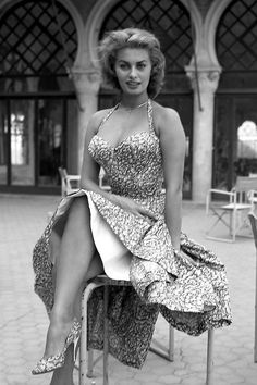 "theniftyfifties: "" Sophia Loren, 1955. """
