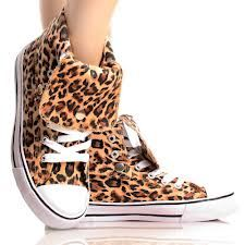 Brown-Leopard-Canvas Lace Up Animal Women Hi Top Sneakers Ankle Boots Ankle Sneakers, Leopard Sneakers, Canvas Sneakers, High Top Sneakers, Ankle Boots, Brown Leopard, Cheetah, Leopard Prints, Animal Prints