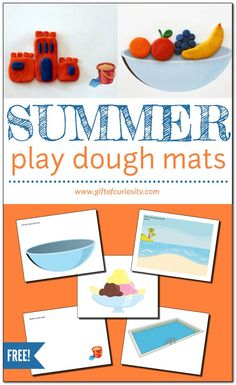 Free printable Summer Play Dough Mats for summer fun! This activity develops fine motor skills and promotes sensory play. Great for young kids! #summer #playdough #sensoryplay #finemotor #finemotorskills #giftofcuriosity #giftofcuriosityprintables #freeprintable || Gift of Curiosity Fine Motor Activities For Kids, Creative Activities For Kids, Sensory Activities, Sensory Play, Preschool Activities, Creative Thinking, Summer Fun, Summer Themes, Toddler Preschool