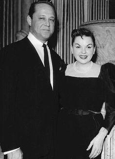 Actress Judy Garland with third husband Sid Luft
