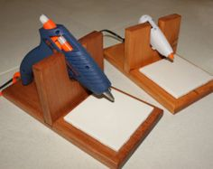 Items similar to Solid maple hot glue gun holder on Etsy