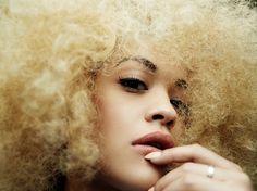 RITA ORA ROCKS CURLY HAIR FOR HUNGER MAGAZINE BY RANKIN Rankin Photography, Fashion Photography, Creative Photography, Rita Ora, Blonde Afro, Golden Barbie, Hunger Magazine, 2015 Hairstyles, Fashion Portfolio