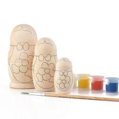 paint your own blank nesting doll from The Russian Store