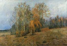 October (Autumn), 1891 by Isaac Levitan. Realism. landscape