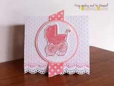 RejoicingCrafts: Handmade Baby Girl Card