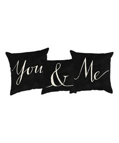 Another great find on #zulily! 'You & Me' Throw Pillow Set #zulilyfinds