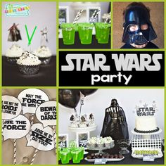 Star Wars Party: Jedi Jaxon's Star Wars 4th Birthday Party. This Star Wars party styled by Bridgey Widgey is out of this world. Be sure to check out all of our Star Wars party ideas and inspiration.