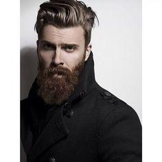 Men's hair cut with beard.