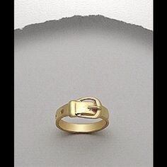 Belt Ring Yellow Gold over  .925 SS  Ring  3.7 Gr. 4 mm Width. Size 7. Jewelry Rings