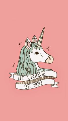 I love it my to favourite things! Being unique and being a unicorn