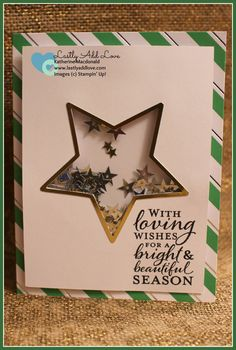 To You and Yours Shaker Card Project Kit; Embellished Ornaments, Katherine Macdonald, Stampin' Up!