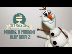 Frozen Olaf cake fondant part 2 How to make a fondant Frozen Olaf Cake decorating topper tutorial - YouTube