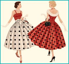 While the proliferation of modern day polka dots is most frequently attributed to Christian Dior and his 1947 Dior New Look line,