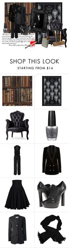 """Dorian Gray"" by dreghan ❤ liked on Polyvore featuring Andrew Martin, Moooi, OPI, Haider Ackermann, Gestuz, Bottega Veneta, Dolce&Gabbana and Chanel"