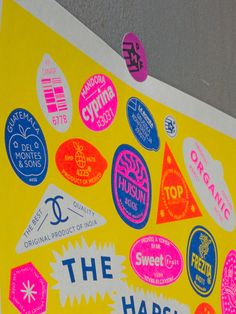 Print made on Risograph size printed with love in 2018 at Moscow studio ESH Prints. Graphic Design Posters, Graphic Design Typography, Graphic Design Inspiration, Branding Design, Logo Design, Layout Design, Print Design, Badges, Grafik Design