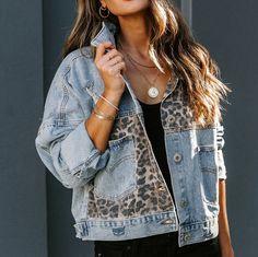 Oversized Denim Jacket, Denim Coat, Denim Shirt, Denim Jackets, Coats For Women, Jackets For Women, Denim Patchwork, Printed Denim, Outfits