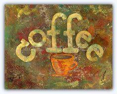 Coffee art Archival print 8 x 10 Coffee by JackieGuttusoDesigns, $25.00