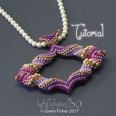 TUTORIAL Cellini Marquis Pendant, Beaded with Peyote Stitch and Seed Beads von gwenbeads