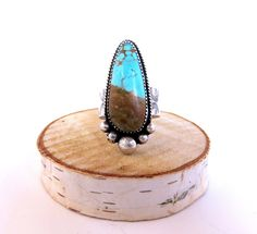 #8 Turquoise Drop Ring