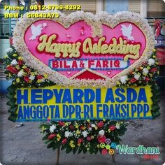 Bunga Papan Happy Wedding HW217WF