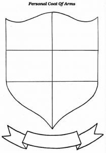 Use this coat of arms worksheet as an artistic prompt for Make your own coat of arms template