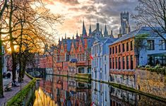 Photo about Canals of Bruges (Brugge), Belgium. Image of house, belgium, view - 49577770 Aragon, Beautiful Streets, Beautiful Places, Amazing Places, Photo Bleu, Chateau Hotel, Places To Travel, Places To Visit, Stone Street