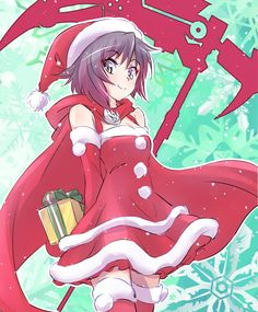 rwby-fan:Santaclause by いえすぱ Boruto, Manga Art, Anime Art, Rwby Pyrrha, Red Like Roses, New Year Art, Team Rwby, Rooster Teeth, Ruby Rose